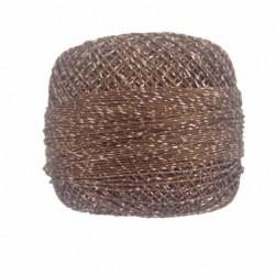 Kordonek matalizowany brązowy-srebrny