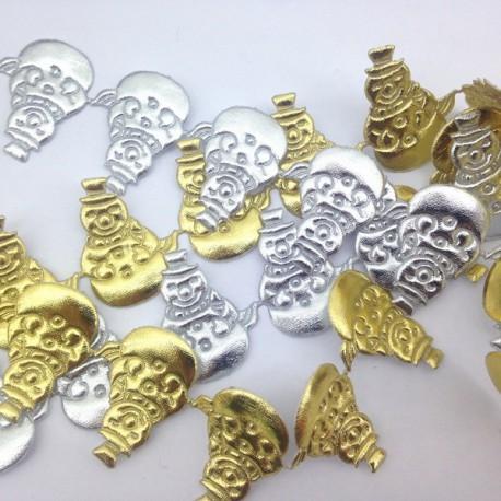 Choinka 30 mm aplikacja złoto / srebro