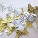 Bałwan 27x34 mm aplikacja złoto / srebro