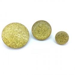 Guzik złoty brokat