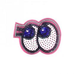 Duże cekinowe oczy 7,0 x 5,2 cm