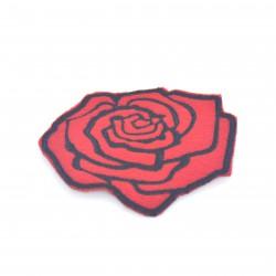 Róża czerwona 79x81 mm