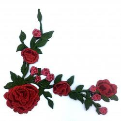 Aplikacja 22 x 20,50 cm narożna kwiaty