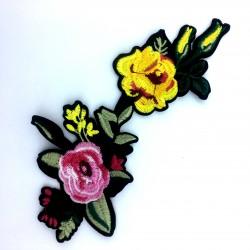 Aplikacja kolorowe kwiaty 20,2 x 9,8 cm
