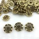 Guzik metalowy złote fale