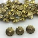 Guzik metalowy złoty z krążkami