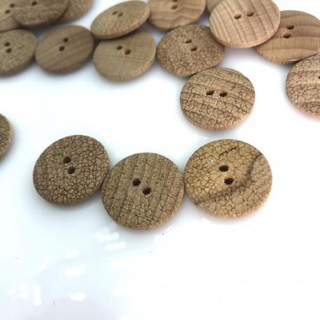 Guzik drewniany drapowania