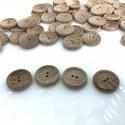 Guzik drewniany klasyczny 22 mm