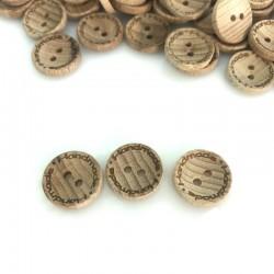 Guzik drewniany klasyczny 15 mm handmade