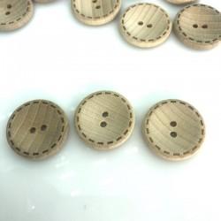 Guzik drewniany jasny duży 28 mm
