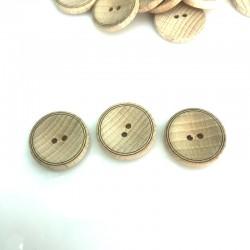Guzik drewniany  kręgi 23