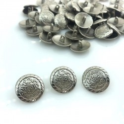 Guzik metalowy srebro herb