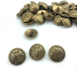 Guzik metalowy złoto herb