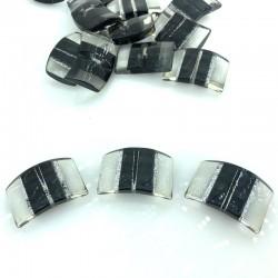 Elegancki czarny z srebrnym brokatem