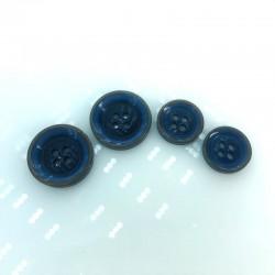 Klasyczny garniturowy Niebieski + brąz