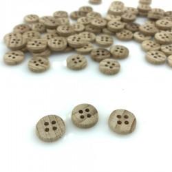 Drewniany klasyczny 11 mm 4 dziurki