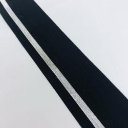 Gumka lamowa czarna/srebrna 4 cm