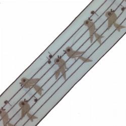 Taśma haft 5 cm ptaszki