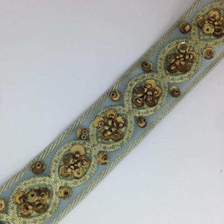 Taśma koralik + cekin 2,6 cm