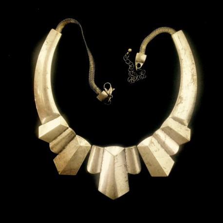 Naszyjnik metalowy ( kolia) srebro