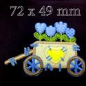 Wózek z kwiatami