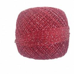 Kordonek metalizowany czerwony-srebrny